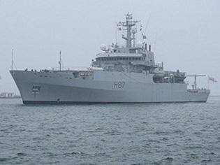 """До Одеси в рамках дружнього візиту в Україну прибув корабель Королівських ВМС """"ЕCHO"""""""