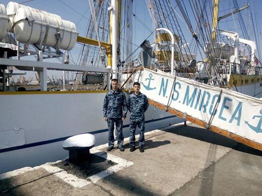 Курсанти Інституту ВМС проходять стажування на румунському вітрильнику«MIRCEA»
