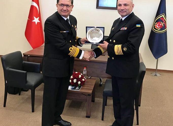 Врамках Міжнародної оборонної виставки «IDEF-2019» відбулась зустріч командувачів ВМС ЗС України та ВМС Турецької Республіки