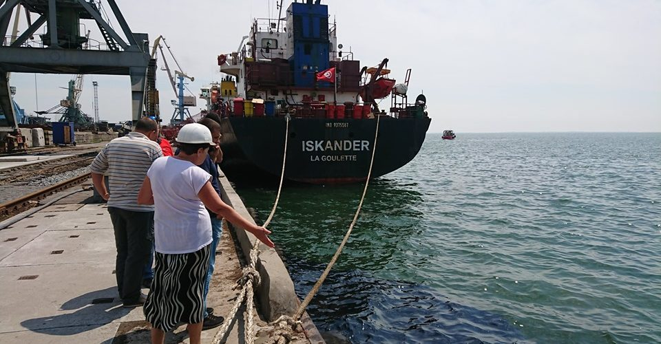 В Бердянському морському порту ліквідували забруднення акваторії на площі 100 кв. метрів