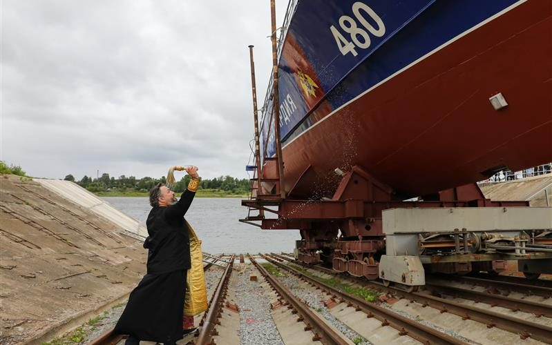 Росгвардія спустила на воду третій протидиверсійний катер проекту «Грачонок» для охорони Керченської протоки