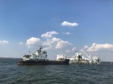 Розпочато експлуатаційне днопоглиблення на 1 коліні Херсонського морського каналу
