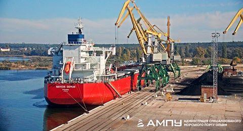 """Морський порт """"Ольвія"""" вперше за п'ять років прийняв судно з імпортним вугіллям"""