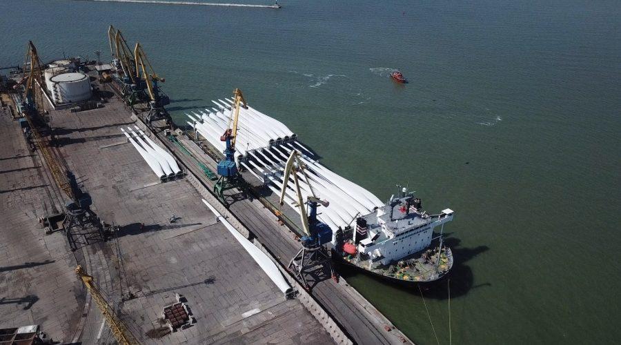 В 2020-му Бердянський порт перевантажить 157 комплектів вітроенергетичних установок