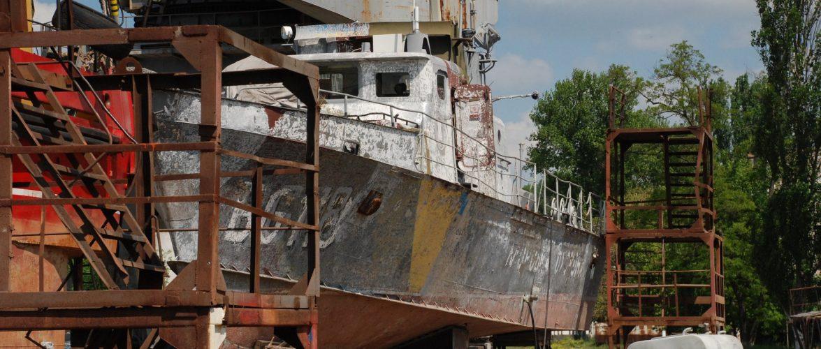 На Азовському судноремонтному заводі спустили на воду «Арабат»