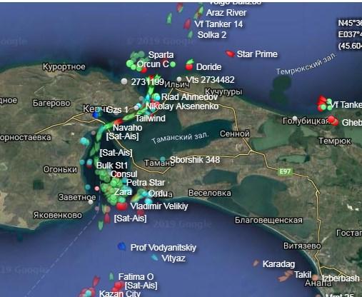 Росія перекрила рух через Керченську протоку на 4 дні для запуску залізничного сполучення