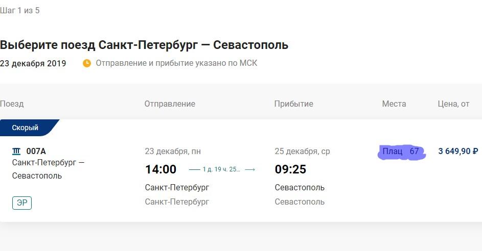 На перший потяг до Криму через Керченську протоку не можуть продати всі квитки