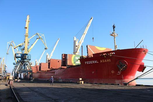 Маріупольский морський торговельний порт у листопаді перевантажив 445,4 тис. тон вантажів