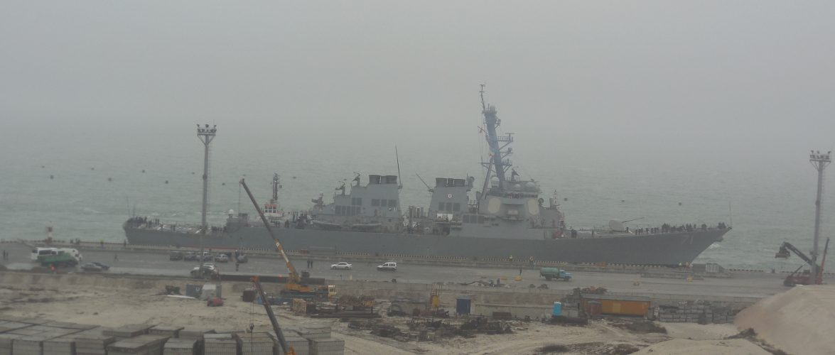 Американський ракетний есмінець USS ROSS ВМС США зайшов до Одеського порту