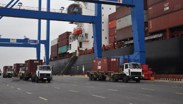 У 2019 році морські порти України перевалили понад 1 млн TEU контейнерів