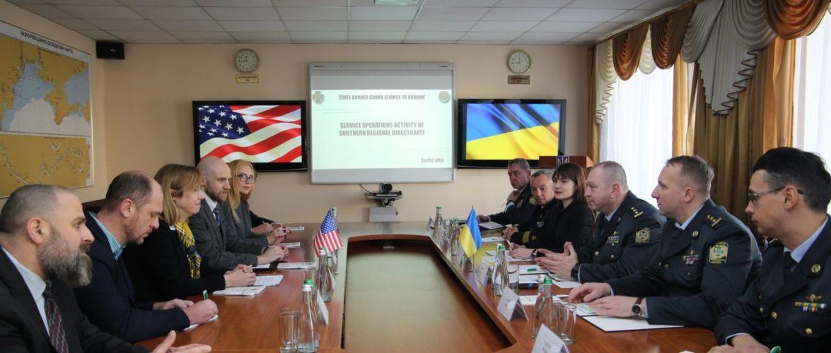 Делегація з США побувала в Південному регіональному управлінні Держприкордонслужби