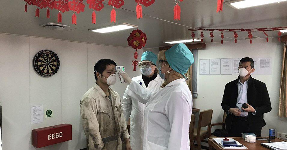В Одеському порту медики оглянули членів екіпажу вже на 25морських суднах на коронавірус 2019-nCoV