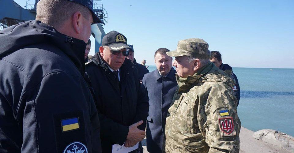 Бердянський порт відвідали начальник Генштабу, Міністр оборони та командувач ВМС України.