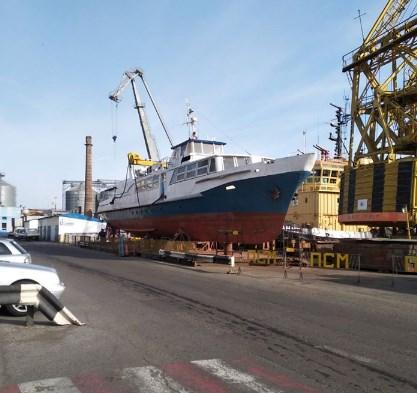 Судноремонтний підрозділ ДП «Одеський порт» виконує ремонт пасажирського теплоходу «Генуя»