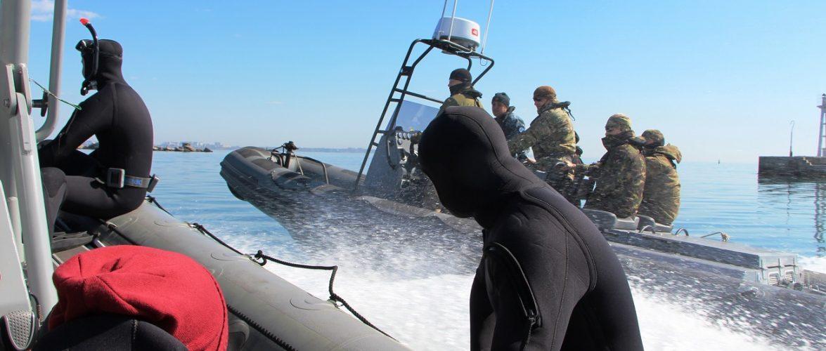В акваторії Чорного моря флотські спецпризначенці протидіяли диверсійним силам і засобам противника