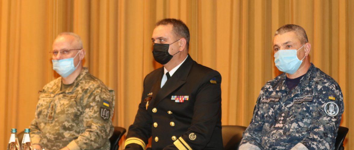 Міністр оборони України представив новопризначеного командувача ВМС ЗСУ