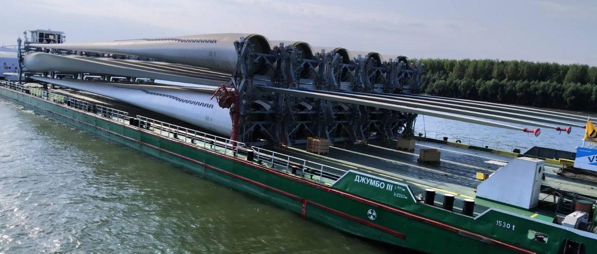 У Ренійському морському порту здійснено перевантаження першої партії конструкцій вітроенергетични