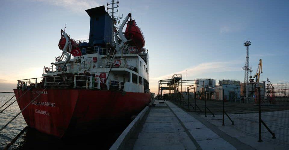 Бердянський порт прийняв перший танкер зі світлими нафтопродуктами