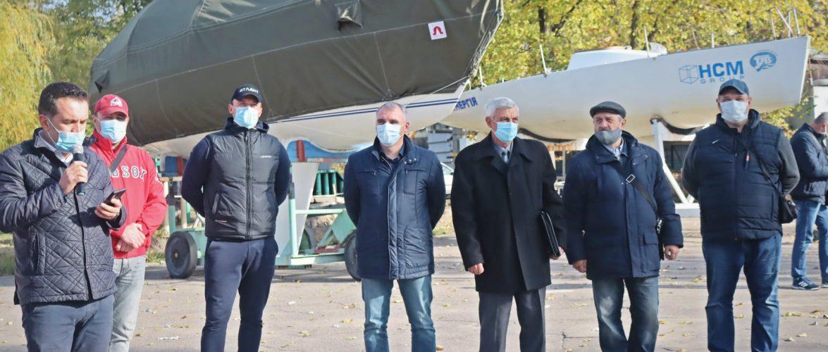 Профком Миколаївського суднобудівного заводу передав новоствореній громадській організації 16 яхт