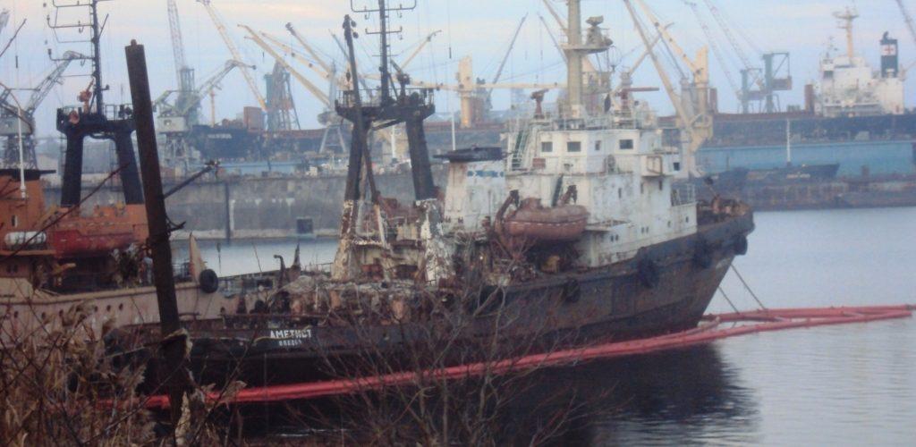 Судно «Аметист» Морської пошуково-рятувальної служби прямо зараз тоне на причалі цього відомства – ЗМІ