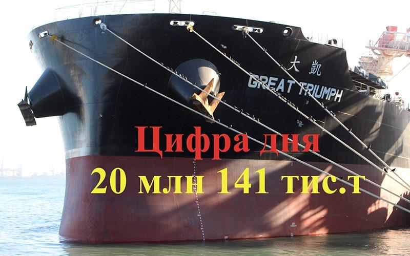 Станом на 10 листопада поточного року морський порт Чорноморськ переробив більше 20 млн тонн вантажів