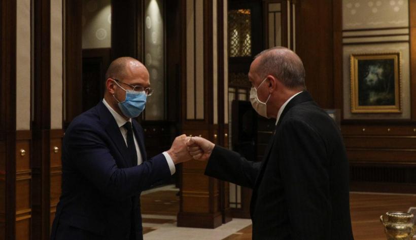 Прем'єр-міністр України на зустрічі з Президентом Туреччини обговорили співпрацю у галузі оборонної промисловості