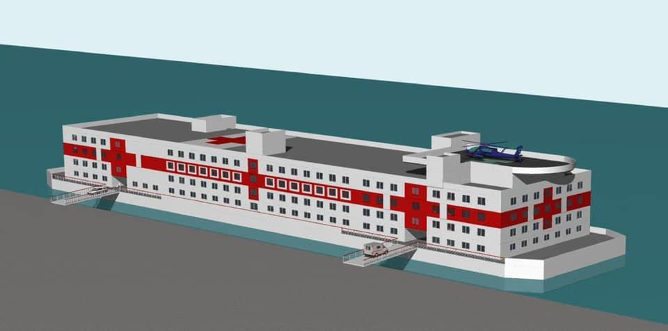 Завод Pallada планує побудувати плавучий госпіталь разом із партнерами з Республіки Хорватія