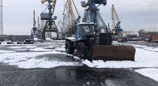 Для ДП «МТП «Чорноморськ» перший сніг несподіванкою не став