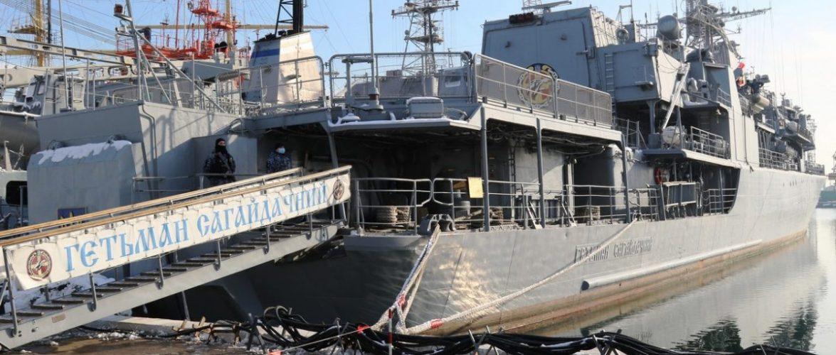 На кораблях, катерах та суднах флотилії ВМС ЗС України відпрацьовують заходи з приведення їх у бойову готовність «Повна»