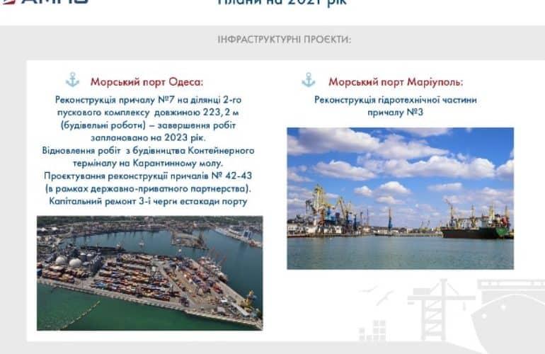 АМПУ поділилась планами на 2021 рік: корпоратизація, капітальні інвестиції та концесійні проекти