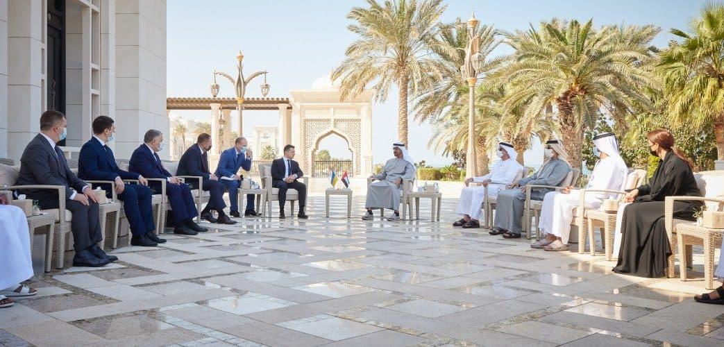 Президент України обговорив зі Спадкоємним принцом Абу-Дабі збільшення товарообігу між Україною та ОАЕ в декілька разів