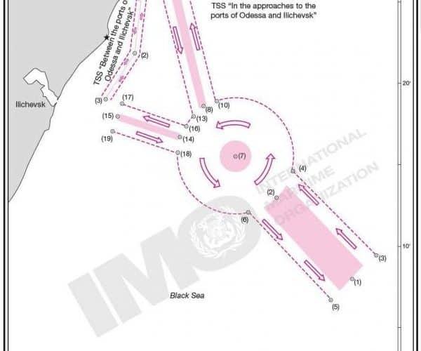 Підготовлено пропозиції щодо внесення змін до системи розподілу руху №2. Підходи до портів Чорноморськ, Одеса та Південний