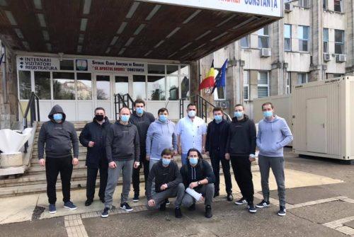 Члени екіпажу «Volgo Balt 179», крім двох, були виписані з повітової лікарні м. Констанца