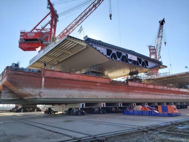 ПрАТ «Українське Дунайське пароплавство» виконало доставку конструкцій для будівництва мосту через Дунай