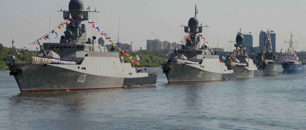 РФ перекидає кораблі Каспійської флотилії до Чорного моря в рамках навчань