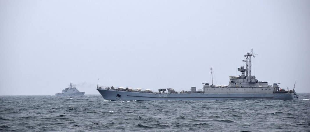 ВМС України провели спільні українсько-румунські тренування типу «PASSEX» в акваторії Чорного моря