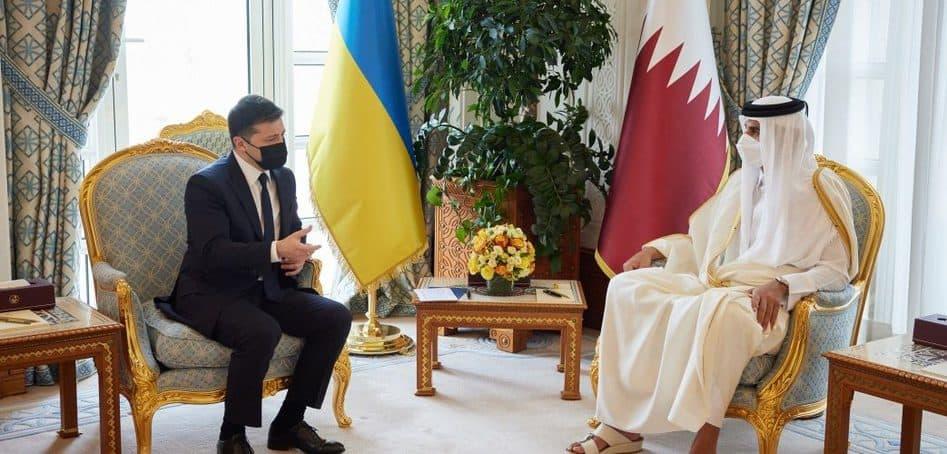 Президент України та Емір Катару обговорили обговорили перспективи будівництва LNG-терміналу та нарощування торгівлі
