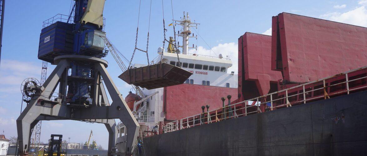 За підсумками квітня Маріупольський порт переробив 654,2 тис. тонн вантажів