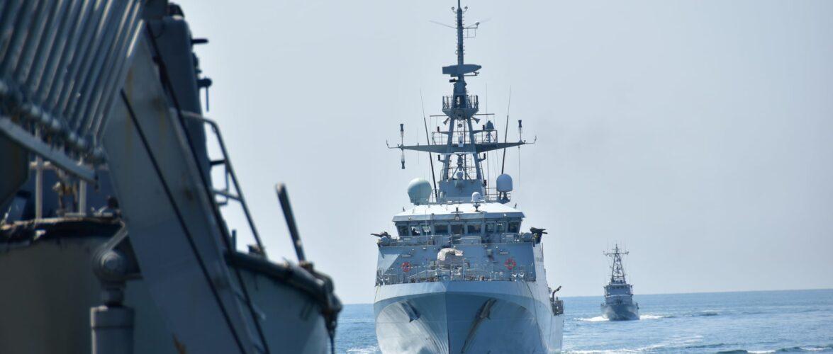 В акваторії Чорного моря ВМС України та Великої Британії провели спільне тренування типу «PASSEX»
