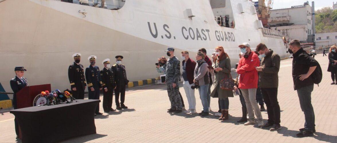 З нагоди прибуття патрульного катера США Hamilton в Одесі відбулася пресконференція