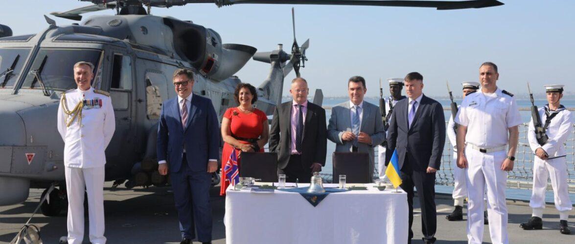 (ВІДЕО) Консорціумом промисловості Великобританії та ВМС ЗСУ підписали Меморандум про реалізацію проєктів морського партнерства
