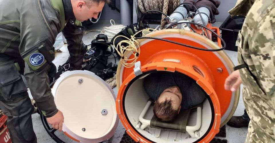 Курсанти Школи Військових Водолазів відпрацювали спуски на 20 метрів