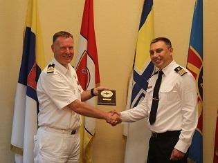 В рамках дружнього візиту кораблів НАТО проведено протокольні зустрічі з представниками ВМС ЗСУ