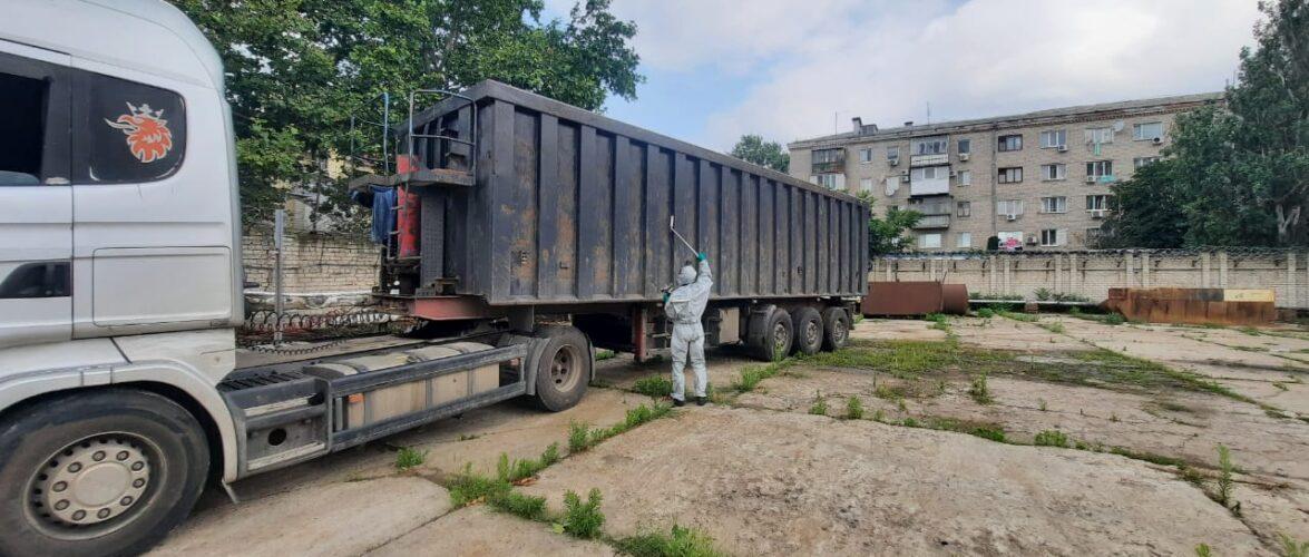 В одному з Херсонських портів прикордонники виявили вантажівку з радіоактивним металобрухтом