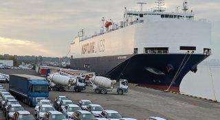 Поромний комплекс морського порту Чорноморськ встановив рекорд зі швидкості обробки судна типу ro-ro